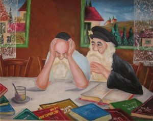 """מכירים כמה מהסיפורים האלמותיים על חסידים כמו ר' זושא, והברדיטשבר? על המשפיע האגדי מענדל פוטרפסט יש לא פחות סיפורים. מי אמר שאין אגדות מודרניות. במכחולו של יחיאל אופנר, שעל אתרו מתנוססת האמירה - """"אני ציירתי את החסידים של פעם, אתה תצייר את החסידים של היום""""."""