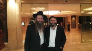 עם הרב נחמיה ביציאה מהשגרילה בסיום הארוע